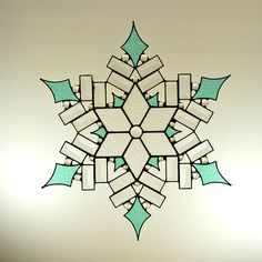Beveled and Stained Glass Snowflake - Made to Order by OriskanyGlass on Etsy https://www.etsy.com/listing/82776337/beveled-and-stained-glass-snowflake-made
