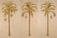 "Zoë Design: Day 114 ~ Wallpaper-a-day ""Date Palm Panels"" #WallCoverings #InteriorDesign #Murals"