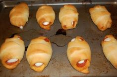 pepperoni, string cheese, crescent rolls. yum.