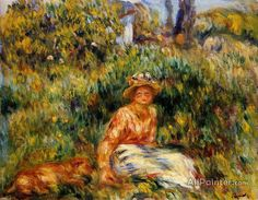 Pierre Auguste Renoir Young Woman In A Garden oil painting reproductions for sale