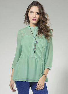 blusa-chiffon-gola-padre-verde-enfim_196240_600_1.jpg (600×830)