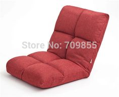 Find More Folding Chairs Information about Memory Foam Adjustable Floor Chair Linen Fabric Red Color Upholstered Indoor Living Room Furniture 5 Step Folding  Lazy  Chair,High Quality chair plush,China chair backrest Suppliers, Cheap fabric crafts for adults from Jiangshan Fuji-Kotatsu products Co,ltd on Aliexpress.com