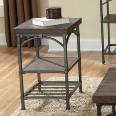 Franklin Rectangular Rustic Brown Chairside Table - 202-OT1021