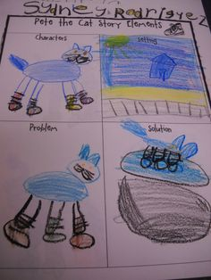 Pete the Cat story element page
