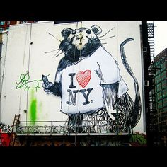 Graffiti I ♥ NY; urban anthropology