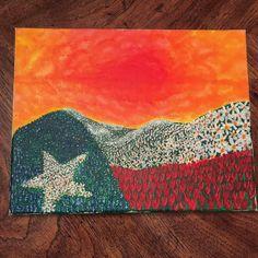 Texas Flag Flowery Landscape