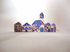 Miniature wooden houses and village by BoisetRois