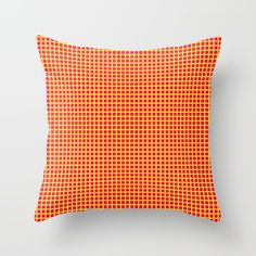 Yellow On Pink Grid Throw Pillow by Moonshine Paradise #society6 #pink #yellow #grid #throwpillow