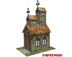 Two Towers Ancient Church Free Building Paper Model Download