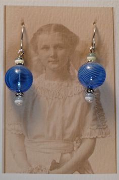 Royal Blue Glass Globe and Sterling Earrings by Foresthollow, $38.00 Etsy.com/shop/foresthollow