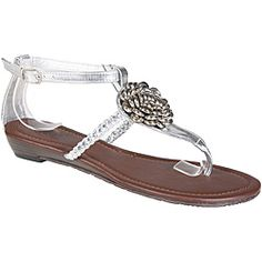 @Overstock - Fashionable floral accents highlight the T-strap on these sandals by Beston. And finished with an adjustable ankle strap closure for easy styling.http://www.overstock.com/Clothing-Shoes/Refresh-by-Beston-Womens-LEAH-09-T-strap-Sandals/6499270/product.html?CID=214117 $14.99