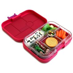 Yumbox Leakproof Bento Lunch Box Container (145 EGP) ❤ liked on Polyvore featuring home, kitchen & dining, food storage containers, food, bento lunch box, food container, bento lunchbox, leak proof lunch box and pink lunch box