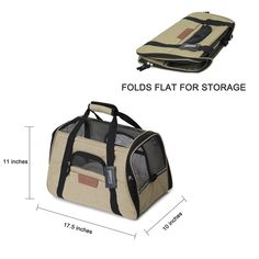Finnkare Pet Travel Carrier Bag Airline Approved Collapsible Soft Side for Small Dogs and Cats ** Find out more testimonials of the product by  going to the web link on the picture. (This is an affiliate link). Pet Travel Carrier, Cat Carrier, Small Dogs, Pet Supplies, Dog Cat, Pets, Bag, Link, Little Dogs