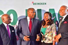 L-R Sampson Oloche (Portfolio Manager, International Premium), Human Resource Director, Nigerian Breweries, Victor Famuyibo, Toyin Ismail...