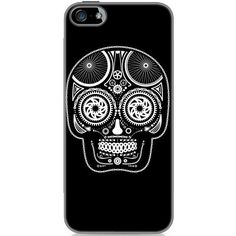 Clockwork Gears Day of the Dead iPhone 5/5S Hard Case ($9.98) ❤ liked on Polyvore featuring accessories, tech accessories, phone cases, phones, electronics and black