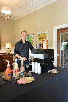 Specialty coffee presentation by Cappucino Catering.