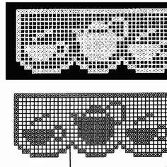Crochet Lace Edging, Crochet Borders, Crochet Squares, Thread Crochet, Crochet Crafts, Crochet Projects, Crochet Curtain Pattern, Crochet Curtains, Fuse Bead Patterns