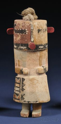 Southwest Polychrome Carved Wood Kachina | Sale Number 2563B, Lot Number 428 | Skinner Auctioneers