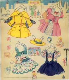 Town and Country paper doll clothes / eBay