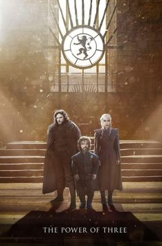 The Three Heads of the Dragon? Kit Harington as Jon Snow, Peter Dinklage as Tyrion Lannister and Emilia Clarke as Daenerys Targaryen
