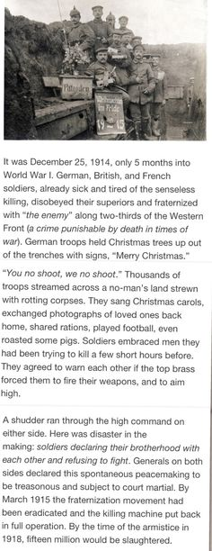 christmas truce human rights wwi trench respect art ideas