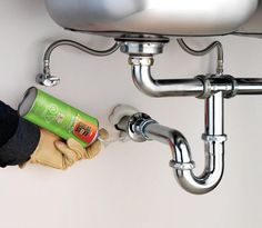 Check for gaps around the pipes under your sinks and fill them with GREAT STUFF. | greatstuff.dow.com | #DIY #GREATSTUFF #Insulation