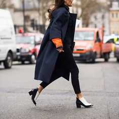 London calling. Photo by @Le 21ème. See more #streetstyle from #LFW now on wmag.com. #Padgram