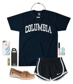 boat ride by gabyleoni on Polyvore featuring polyvore, fashion, style, Columbia, Sperry, Casetify, Maybelline, MILK MAKEUP, Sun Bum, NIKE and clothing