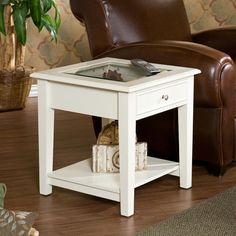 Panorama end table white end tables at hayneedle real wood coffee table. Painted End Tables, White End Tables, Glass Top End Tables, Glass Table, Western Furniture, Rustic Furniture, Pink Home Decor, Wholesale Furniture, Hardwood