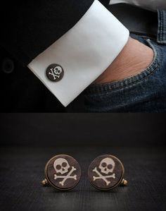 Skull Cufflinks by Goth Chic - skull designs, art, fashion and more