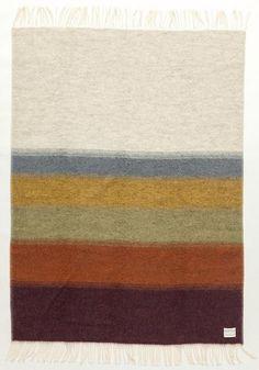 Álafoss Interior Wool Blankets - Shades Perspective - Natural  Shaded short stories were created by designer Védís Jónsdóttir for Álafoss interior.