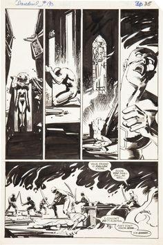 Frank Miller- Daredevil #190, Page 35 Comic Art