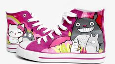 #Totoro Hand Painted Shoes Anime shoes