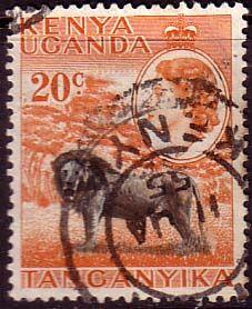 Postage Stamps Kenya Uganda Tanganyka 1954 Animals SG 170 Fine Used Scott 107 Other KUT Stamps For Sale Take a look