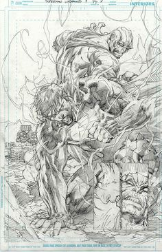 Superman v Wraith by Jim Lee! (DC comics)