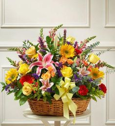 Save 5%-15% EVERYDAY on our 1-800-Flowers.com Bright Flower Sympathy Arrangement in Basket. Real Florists creating your special 1800Flowers delivery
