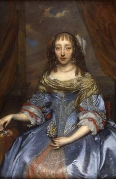 Lady in a Blue Satin Dress by Gonzales Coques, ca the Netherlands, Cannon Hall Museum Blue Satin Dress, Satin Dresses, 17th Century Fashion, 19th Century, Baroque Painting, European Dress, Renaissance Era, National Gallery Of Art, Historical Clothing
