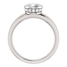 adding decoration to under seat of bezel seat 1 CT Solitaire Diamond Round Bezel Engagement Ring RighteousRecycling Diamond Ring Settings, Diamond Solitaire Rings, Diamond Jewelry, Jewelry Rings, Jewellery, White Gold Wedding Rings, Silver Engagement Rings, Dress Rings, Wedding Ring Bands