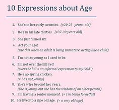 Forum | ________ Learn English | Fluent Land10 Expressions about Age | Fluent Land