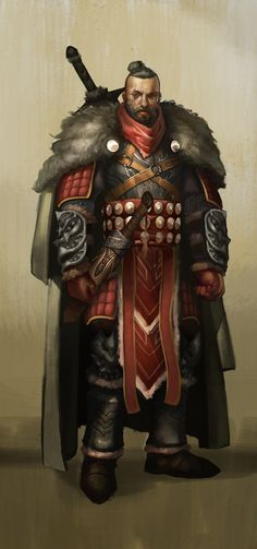 Looks like a westerner that occasionally travels and trades with the Orient.   Artist: Howard Pak