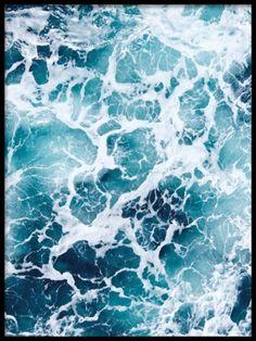 Snygg poster med foto på hav
