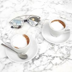 Yes please. #happytuesday #positive #minimal #marble #coffee #cappuccino #shades…