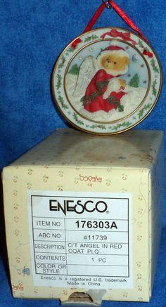 Enesco Cherished Teddies SEASON OF PEACE Mini Plate 1996  E10