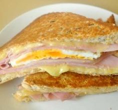 Judes Grilled Ham And Egg Sandwich Recipe - Genius Kitchen Grilled Ham, Best Grilled Cheese, Grilled Cheese Recipes, Grilled Sandwich, Grilled Cheeses, Ham And Egg Sandwich, Egg Sandwiches, Soup And Sandwich, Sandwich Recipes