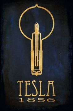 Tesla 1856 by Megan Lee Katauskas (part of Rockstar Scientist Poster Series)