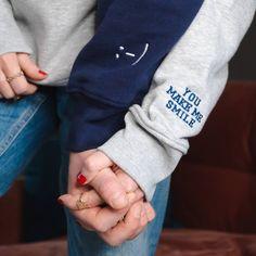 Custom Clothes, Diy Clothes, Diy Embroidery Shirt, Matching Hoodies, Stylish Hoodies, Diy Sweatshirt, Embroidered Sweatshirts, Aesthetic Shirts, Make Me Smile