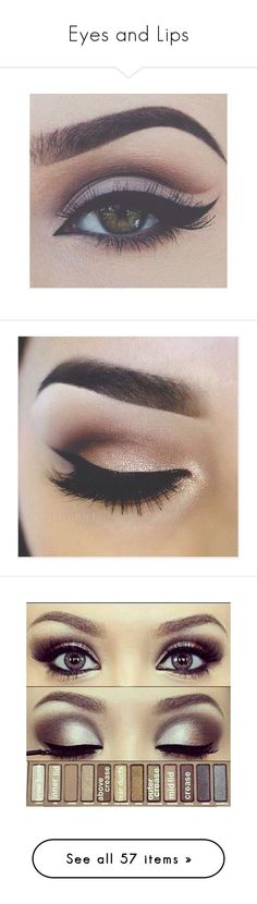 """""""Eyes and Lips"""" by stephanie-erin ❤ liked on Polyvore featuring beauty products, makeup, eye makeup, eyes, beauty, bellezza, eyeshadow, palette eyeshadow, eye make up and eyemakeup"""
