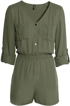 H&M - Jumpsuit - Khaki green - Ladies - Click the link for product details :)