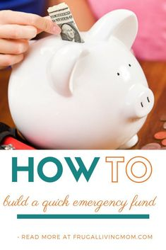 How to Build an Emergency Fund Quickly - Frugal Living Mom Take Money, Ways To Save Money, Money Saving Tips, Saving Ideas, Financial Guru, Financial Literacy, Budget Envelopes, Finance Blog, Finance Tips