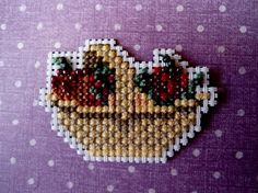 Autumn Basket Magnet with Cranberry and by theelegantstitchery, $10.00